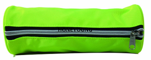 Double Color Zipper Pipings Round Pencil Bag