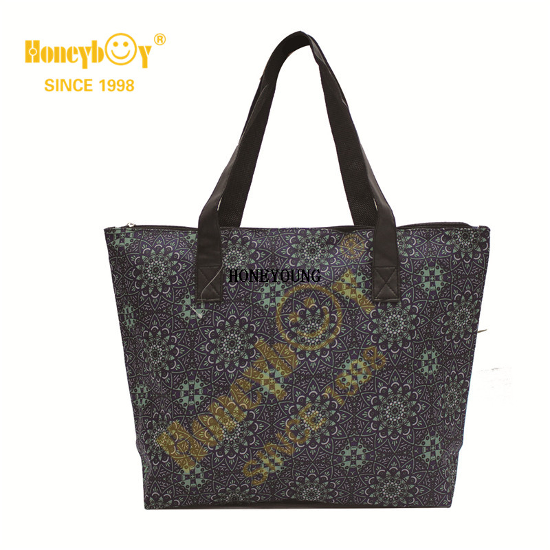 Fruit Purple Shopping Bag with Ribbon Handle HY-G007