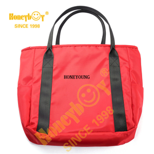 Nice Red Multipurpose Reusable Nylon Shopping Bag HYG-011