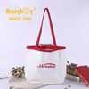 Patterned Ladies White Shopping Bag with Handle HY-HS004