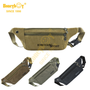 New Simple Adjustable Outdoor Canvas Waist Bag