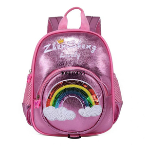 New Design Hot Selling PU Cute Kids Backpack HY-T018