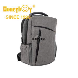 Large Carrying Office Two Tone Computer Bag with Side Pockets