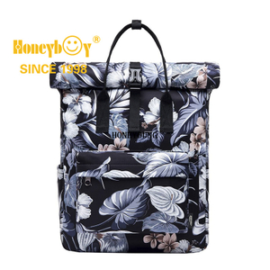 Backpack Roll top Rucksack Women & Men School Bag Unisex Water-Resistant Travel Laptop Backpack fits 15 inch MacBook Laptop