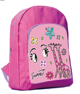 600D polyester durable cute kids backpack school bag with printing