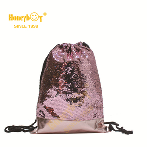 Mermaid Sequin Bag Magic Reversible Sequin Drawstring Backpacks Glittering Shoulder Bag Sports Outdoor Backpack Bags Shinning Dancing Bag