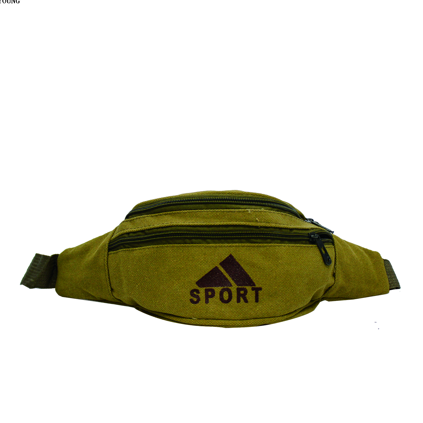 Adult Sport Canvas Two Compartment Waist Bag HY-O004