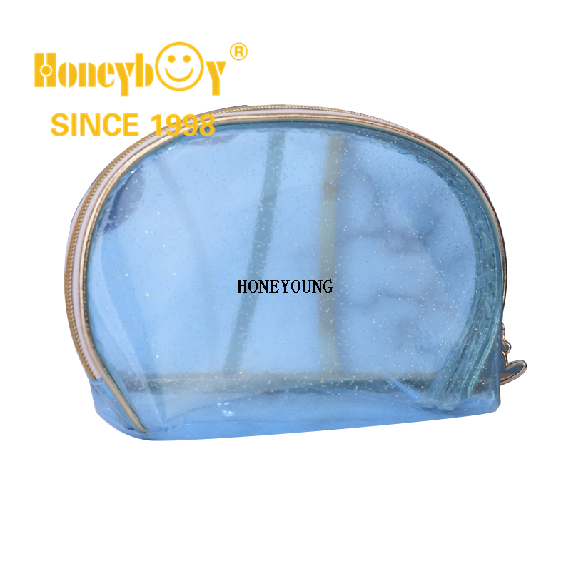 Make up Bag Clear Travel Cosmetic Bag Makeup Pouch Transparent Tote Bag Thick PVC Zippered Toiletry Carry Pouch Waterproof Makeup Artist Large Bag