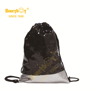 Punching Bag Sequin Glitter Paillette Drawstring Backpack HY-K006