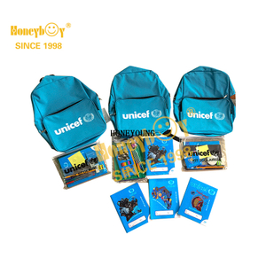 Unicef Customized Notebook Stationery School Backpack Set