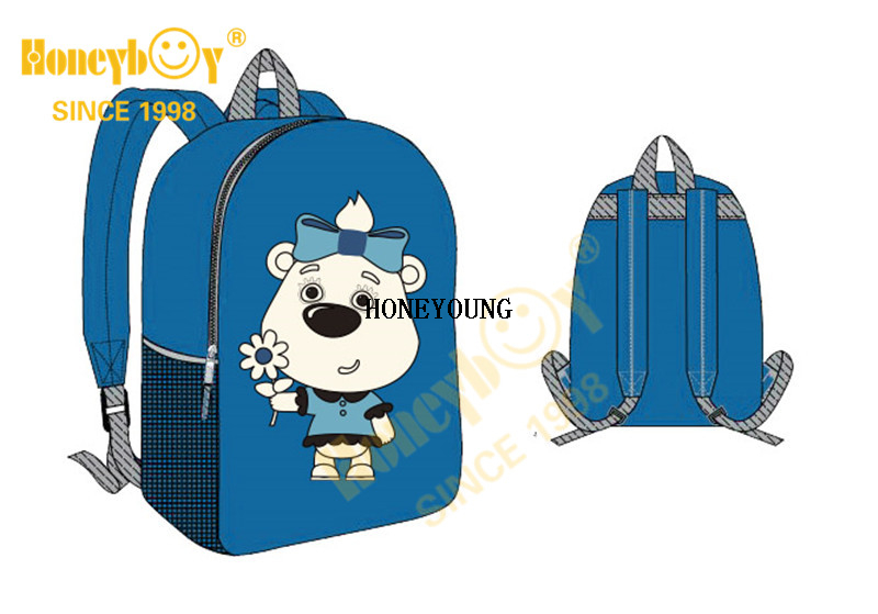Cute Pattern 600D Kindergarten Kids Children Backpack