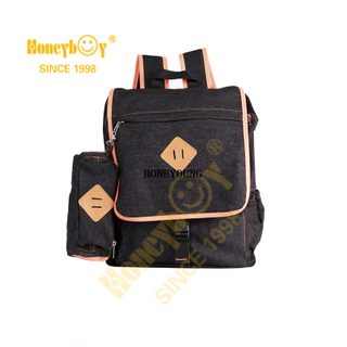 Stylish Custom Soft Denim School Backpack Set HY-T019