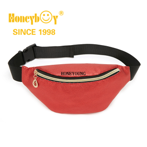 Medium Soft Red Crossbody Waist Women Pu Bag