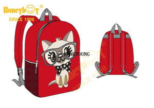 Latest Medium Animal Pattern Kindergarten Children Backpack HY-A063