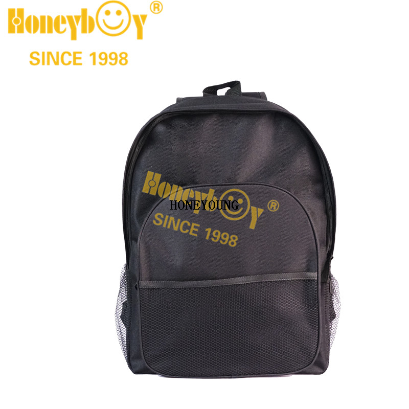 Chinese Mesh Pocket Strong 600D School Backpack HY-A157