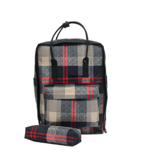 Fashion Wear Resisting Backpack with Pencil Bag