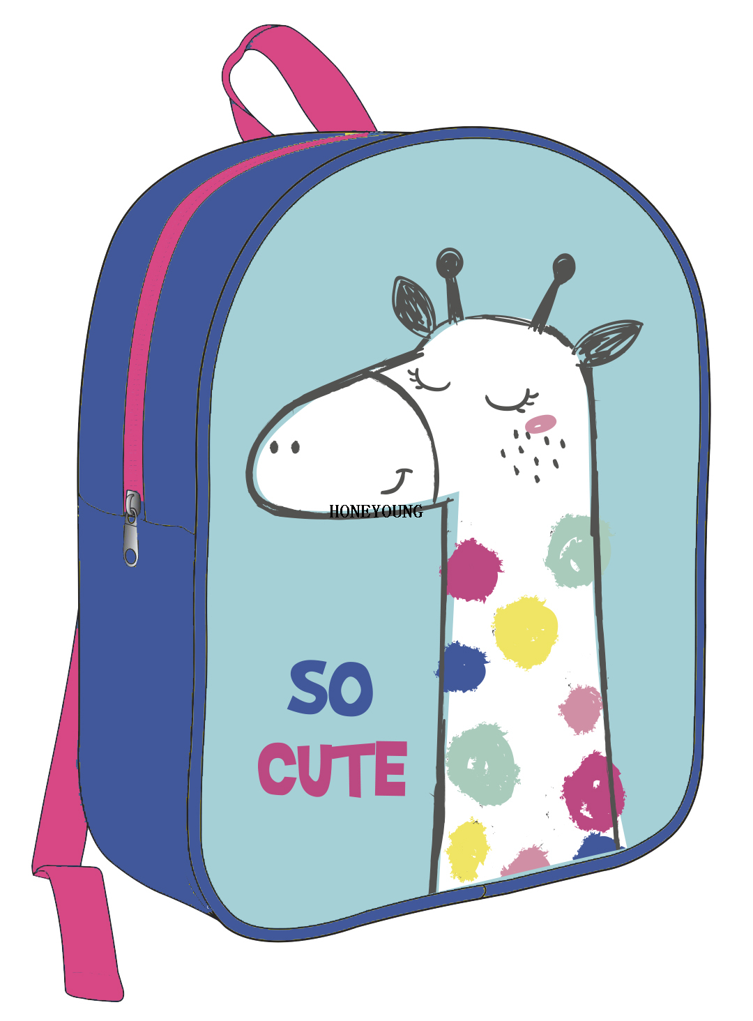 New Design Hot Selling PVC Cute Kids Backpack HY-A060