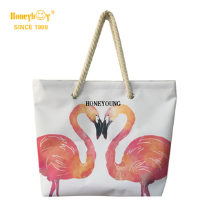 Fashion High Capacity Lightweight Flamingo Beach Bag